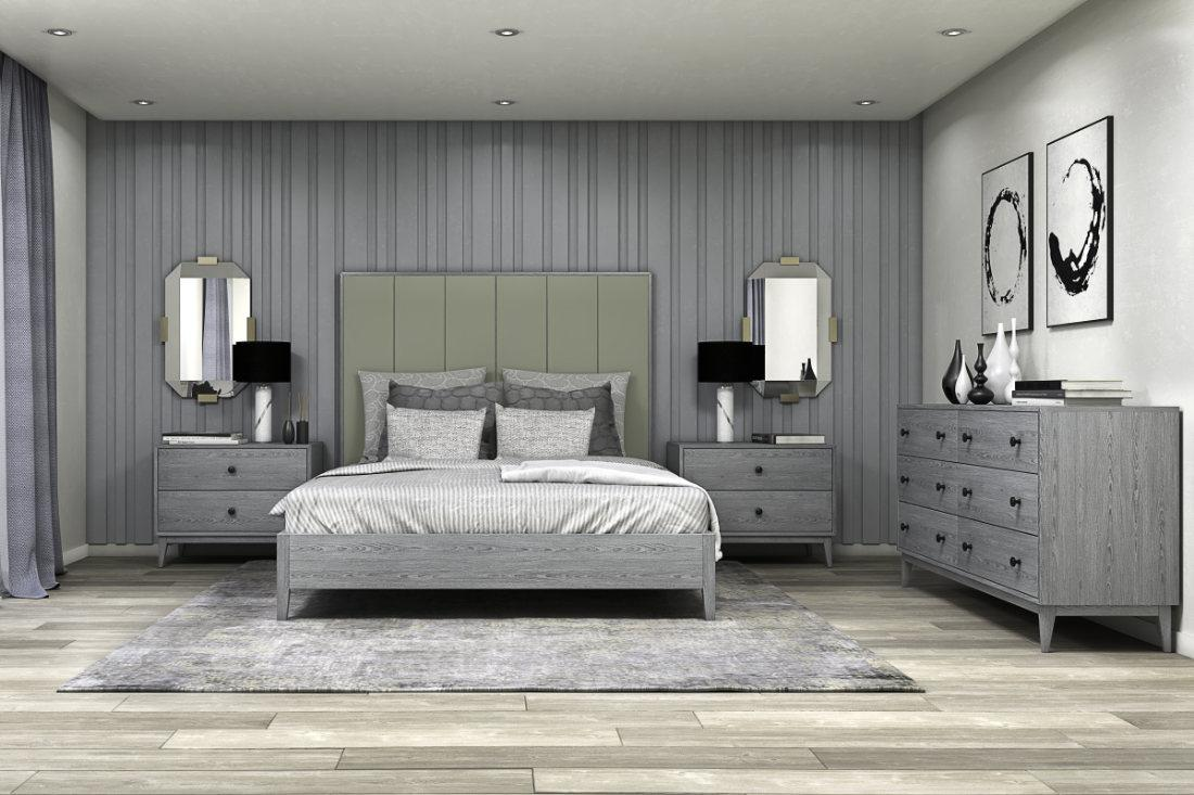 Bedford collection shown in a bedroom setting