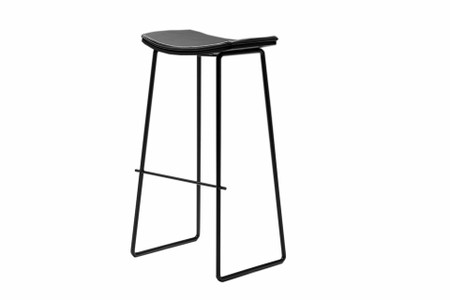 Lucia Bar Stool Black Leather