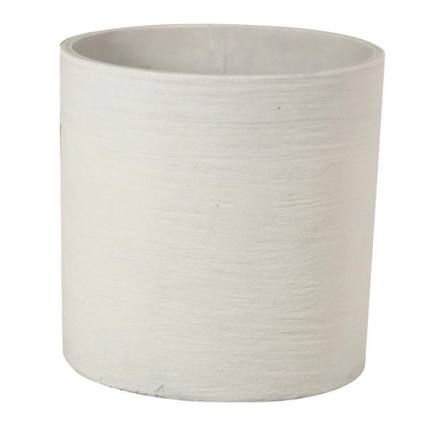 Cylinder Sand Pot - Large White