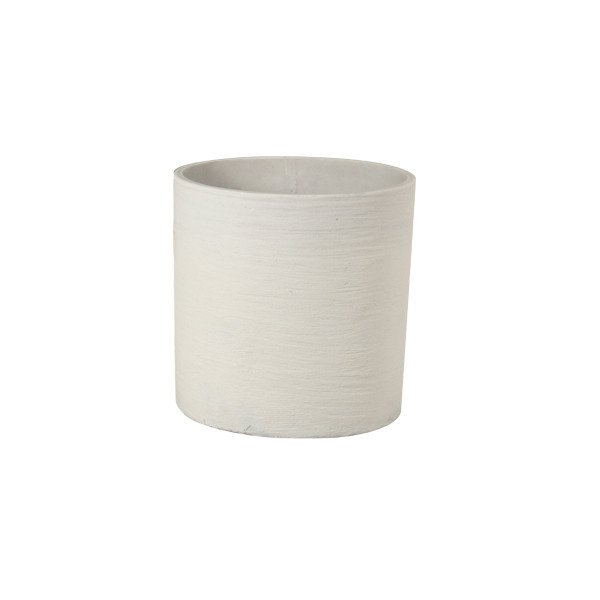 Cylinder Sand Pot - Small White