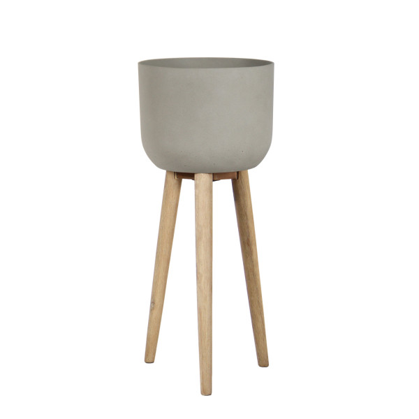Tall Sandstone Planter on Stand