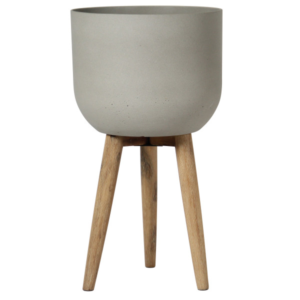 Short Sandstone Planter on Stand