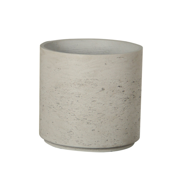 Cylindrical Cement Pot - Small