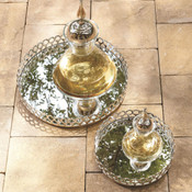 Double Arch Tray - Large Nickel