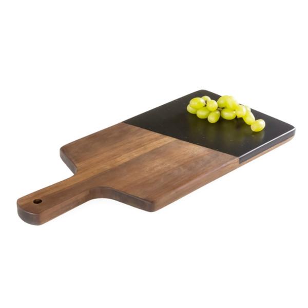 Sienna Acacia Cheese Paddle - Black