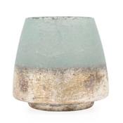 Cambria Seagreen Metallic Vase