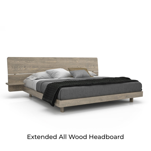 Alma Bed with raw birch finish