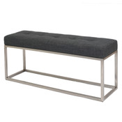 Emily Bench - Charcoal Fabric