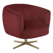 Bordeaux lounge chair & brass base.