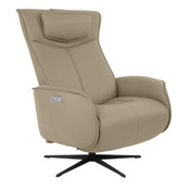 Axel Medium Recliner - Grey Leather