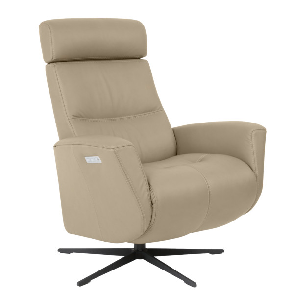 Magnus Recliner - Grey Leather