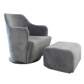 Adelaide Swivel Chair with Ottoman
