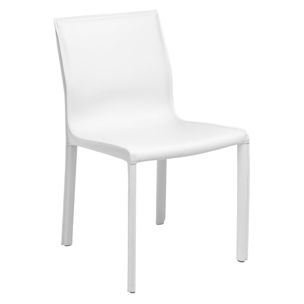 Colter Dining Chair - White Leather