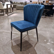 Tolivere Dining Chair Blue Velvet
