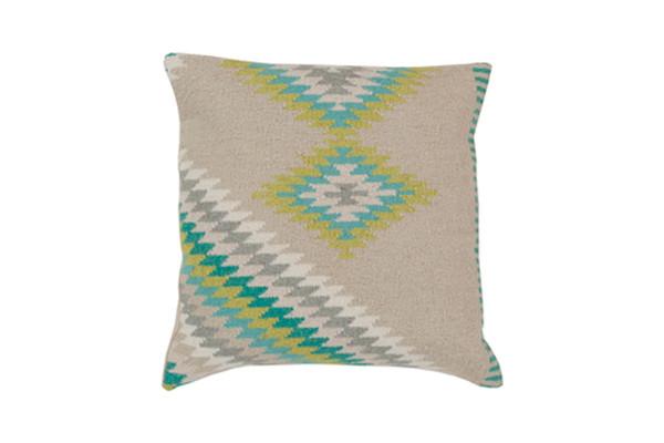 Kilim Cushion - Beige/Aqua/Olive/Li