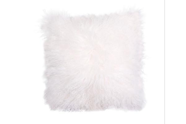 Trosa 16x16 Mongolian Cushion White
