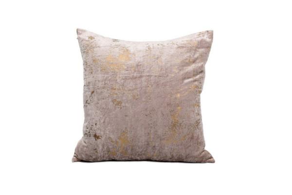 Alessia 20x20 Cushion - Gold/Beige