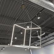 Floating Gold LED Box - Medium