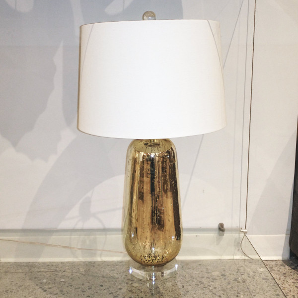 Antique Gold Mirror Table Lamp