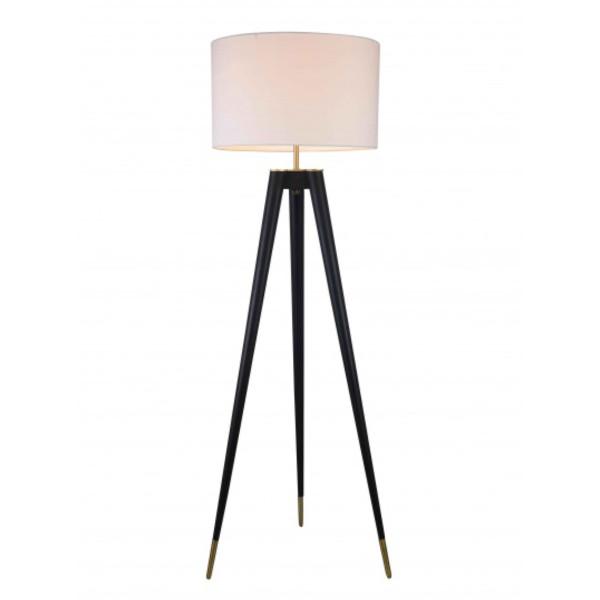 Black & Brass Floor Lamp