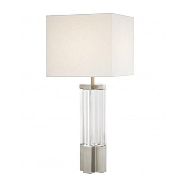 Crystal & Metal Table Lamp