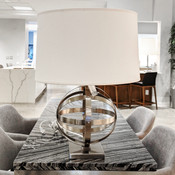 Lucy Table Lamp - Antique Nickel