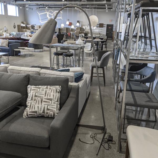 Flip floor lamp