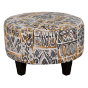 Small Round Fabric Ottoman