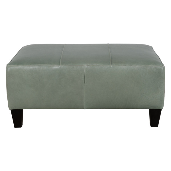 Small Rectangle Leather Ottoman
