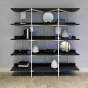 Kite 5 Shelf Unit - Charcoal/White