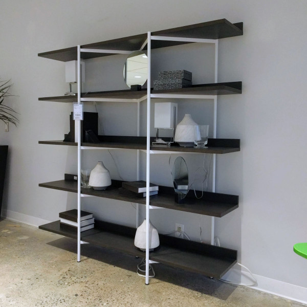 Kite 5 Shelf Unit - Charcoal/White