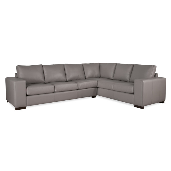 Emerson sectional in leather