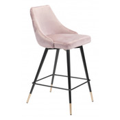 Piccolo Counter Chair Pink Velvet