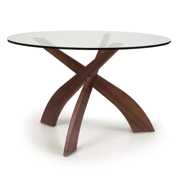 Entwine Dining Round Glass Top
