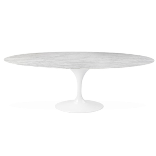 Marble Oval Table