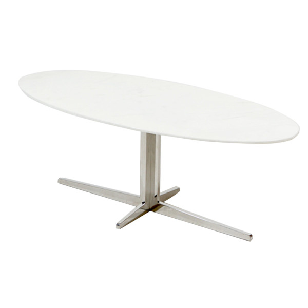 Gisele Oval Coffee Table - White Ma
