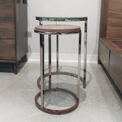 Champagne Brass Nesting End Table