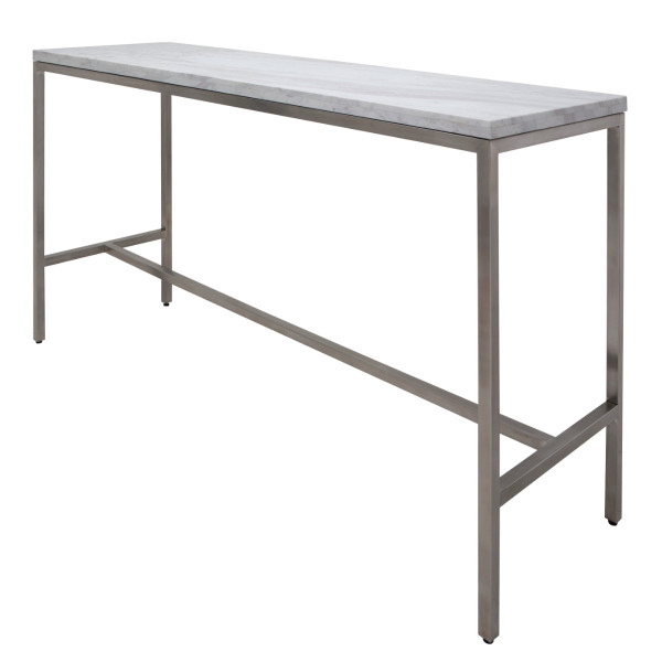 Verona Bar Table - White Marble