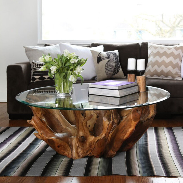 Natura Round Root Coffee Table | Casalife Furniture ...