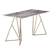 Ursula Desk - Marble/Brass